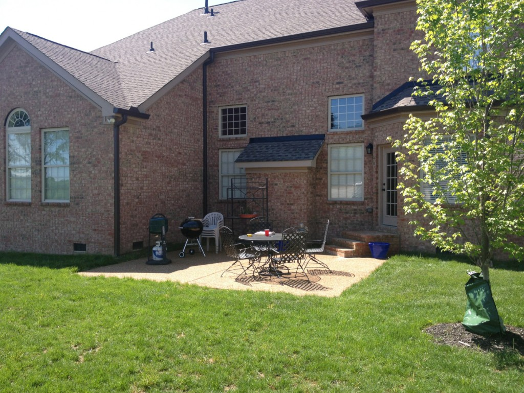 Nolensville Landscape Design old back yard before design.