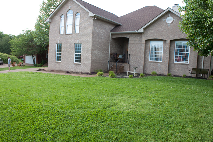 Client Home in Spring Hill Tennessee for Landscape Design.
