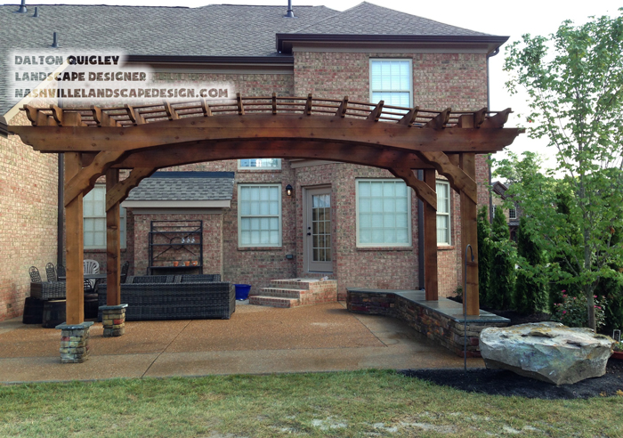Landscape Design Install project completed in Nolensville TN just outside of Nashville Tennessee.