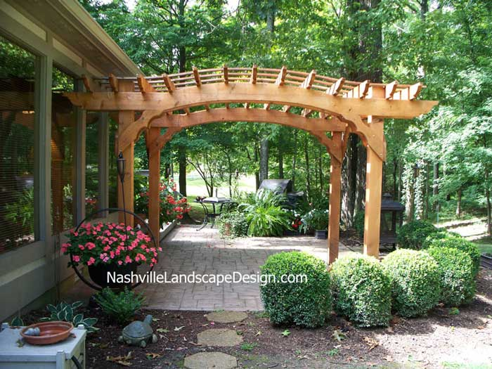 Nashville Cedar Arbor Pergola