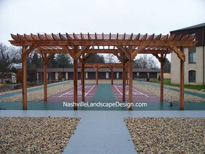 Nashville Redwood Cedar Stained Arbor