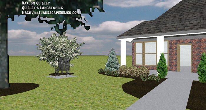 Nashville front yard landscape design and installation for Garden design nashville tn