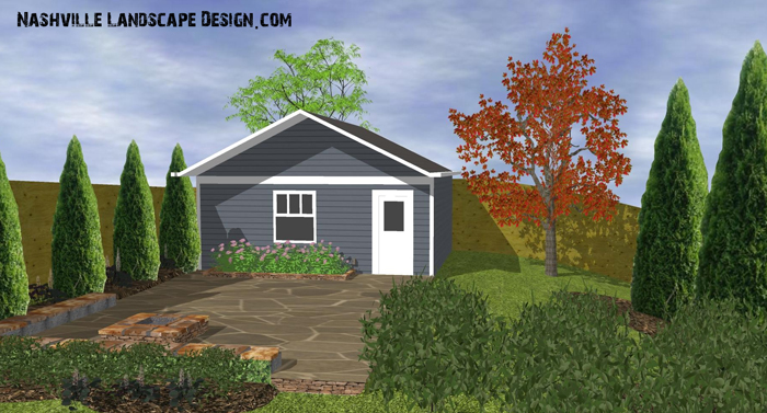 Nashville Back yard Garden Designs by Quigley's Landscaping