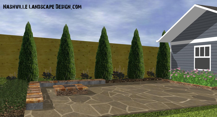 Nashville Patio Design, Stone Designs in 3d Graphics of patios in Nashville TN.