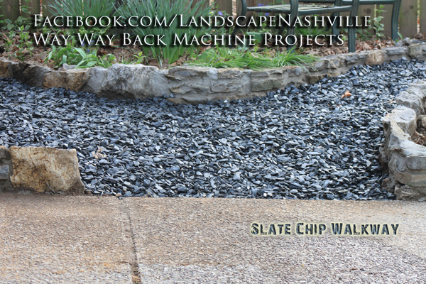 Slate Chip stone example for landscape Design