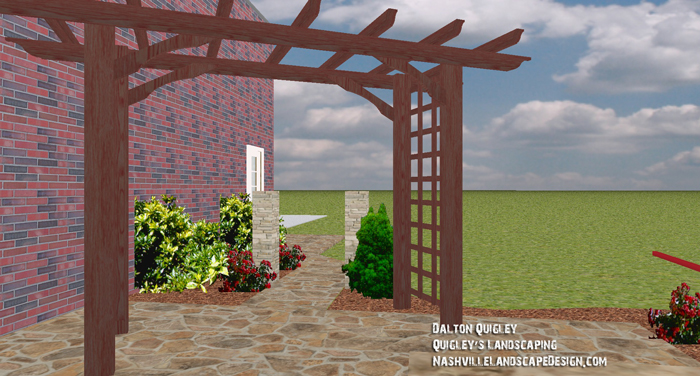 Arbor-Pergola-Cedar-Stained-Garden-Patio-Nashville-TN