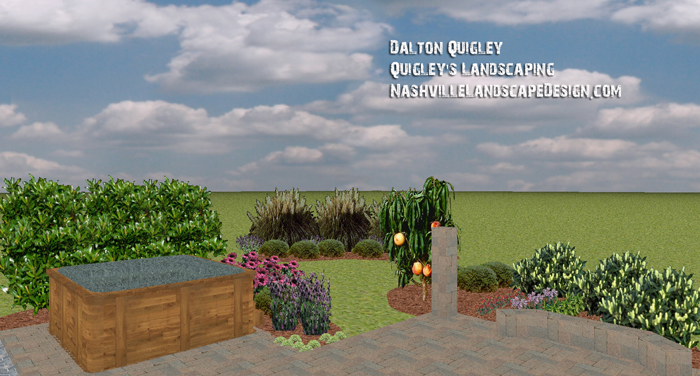 Open-concept-paver-landscaping-perennials