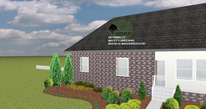 brick home landscape design. Interior Design Ideas. Home Design Ideas