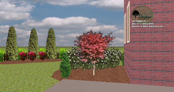 Arborvitae privacy landscape design archives nashville for Garden design nashville tn