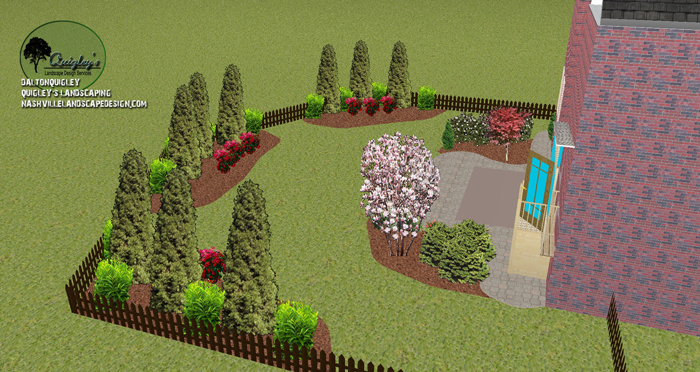 Spring Hill Privacy Landscape Design
