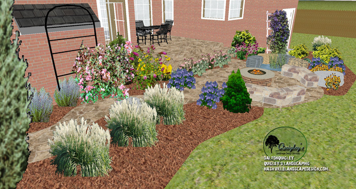 Brentwood-Hardscapes-Landscaping-Fire-pit-garden