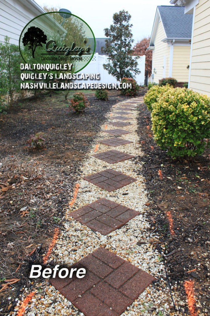 Peagravel-walkway-before-ugly-Nashville-Brentwood-Franklin-Spring-Hill-Nolensville-TN