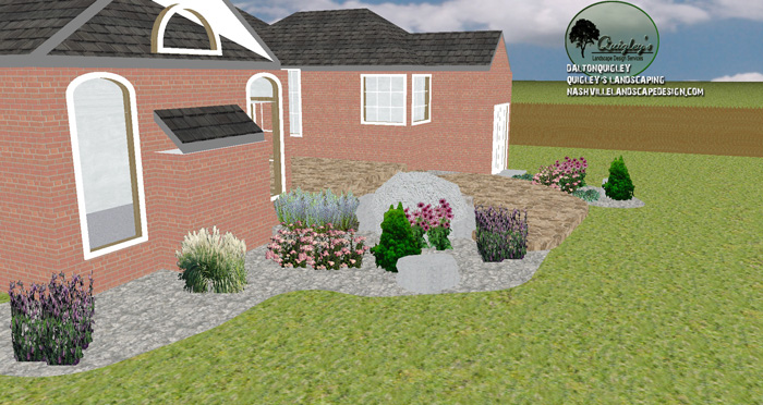 Steps-patio-backyard-boulder-xeriscape-TN