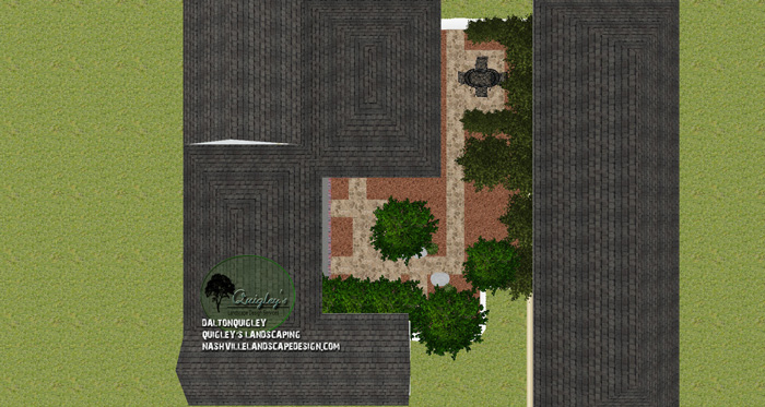Top-Down-Franklin-TN-Courtyard-landscape-design