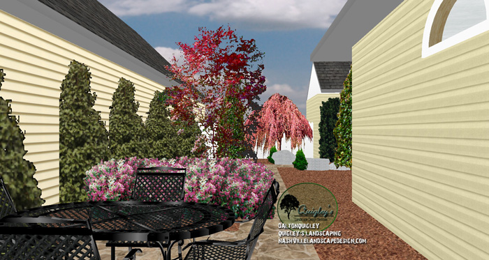 Franklin tn courtyard landscape design nashville for Garden design nashville tn
