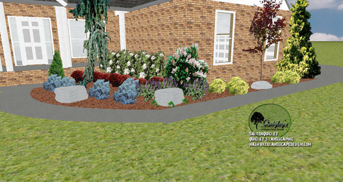 Front yard landscape design spring hill tn nashville for Garden design nashville tn