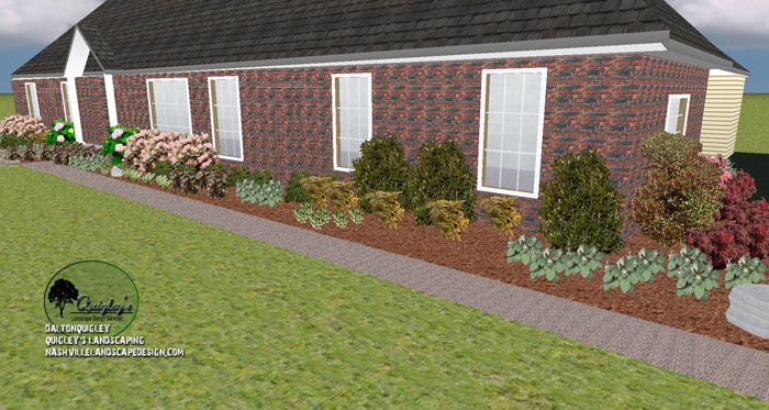Brentwood tn front yard landscape design nashville for Garden design nashville tn
