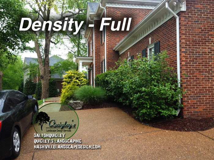 Landscape Design option density Full Nashville Brentwood Franklin Spring Hill and Nolensville TN