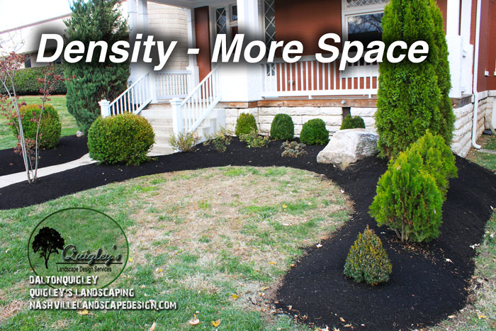 Landscape Design option density More Space Nashville Brentwood Franklin Spring Hill and Nolensville TN