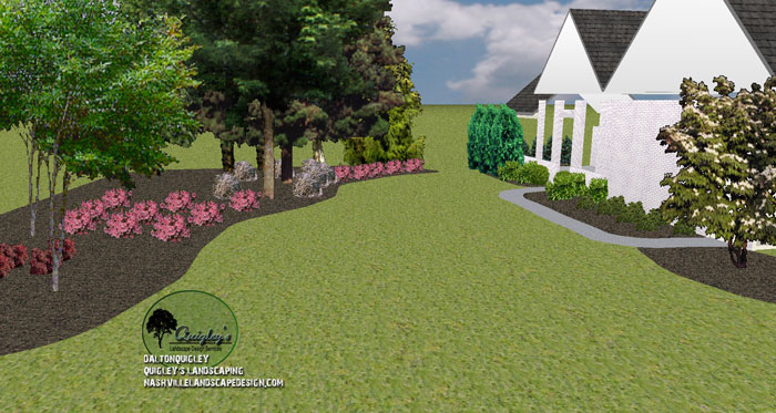 Landscape-Designer-in-Franklin-TN Back Yard where a patio is about to be designed into the scene.