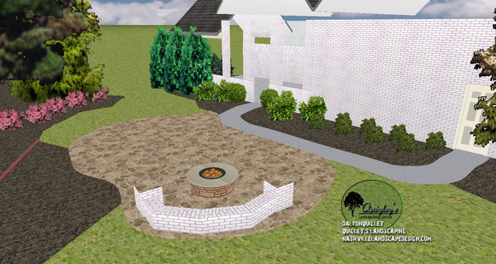 Franklin Tn Backyard Privacy Patio Nashville Landscape
