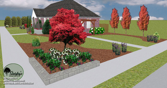 Nashville corner lot landscape design nashville for Corner lot landscaping pictures