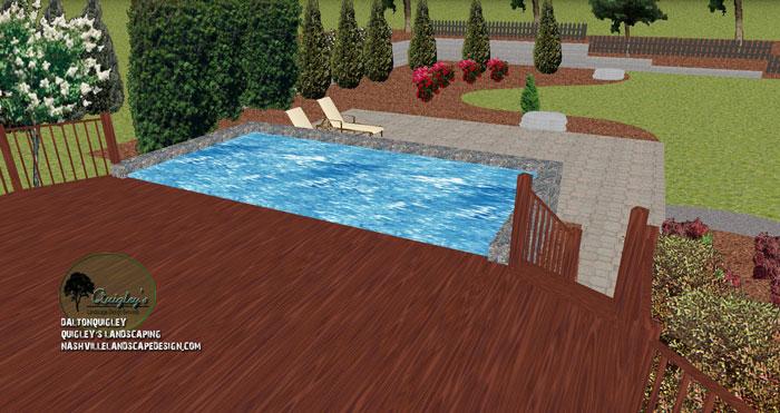 Nashville backyard retaining wall landscape design for Pool design nashville