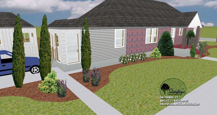 Nashville corner lot landscape design nashville for Garden design nashville tn