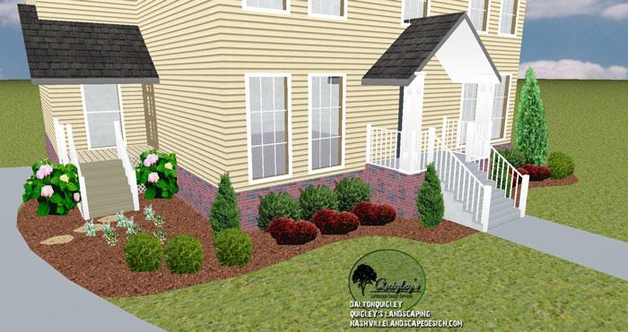 Nashville-Dwarf-English-Boxwood-Landscape-Front-Yard