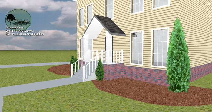 Nashville-Lenox-Village-Front-Yard-Foundation-Evergreens