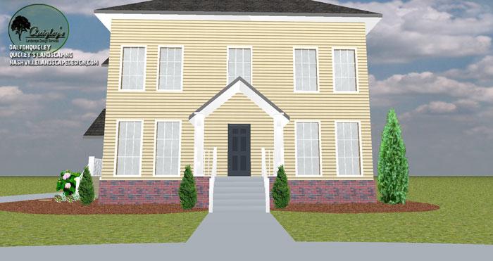 Nashville-Lenox-Village-Front-Yard-Framing-Entrance