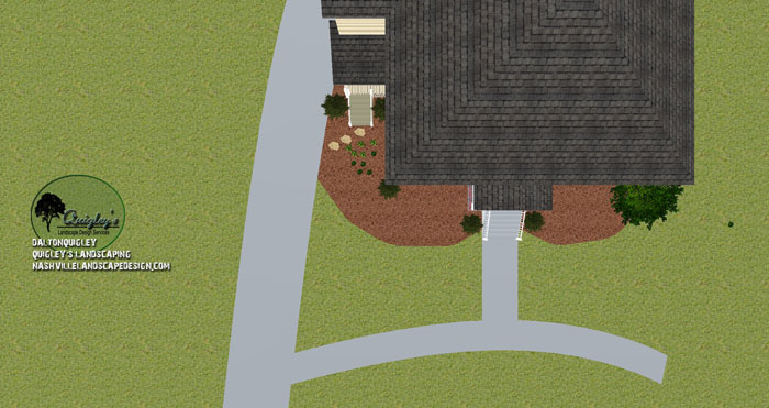 Nashville-Lenox-Village-Front-Yard-Top-Down-Landscape-Design
