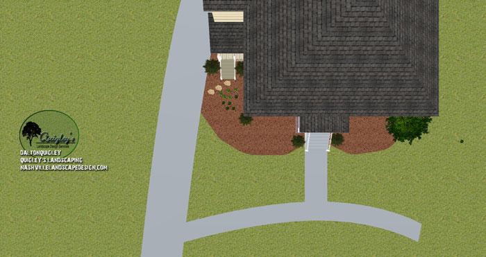 Nashville-Lenox-Village-Front-Yard-Top-Down-Landscape-Design