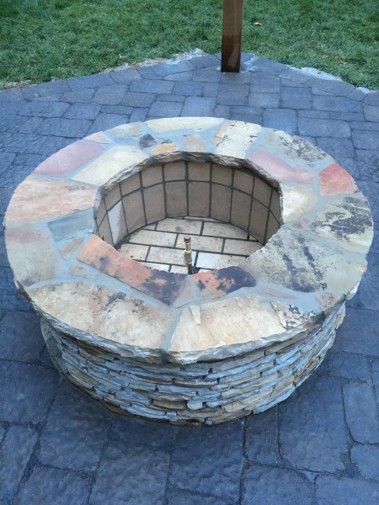 Nashville stone fire pit