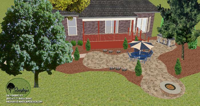 Patio Design Brentwood TN - Nashville Landscape Design Services Quigleyu0026#39;s Landscape Design