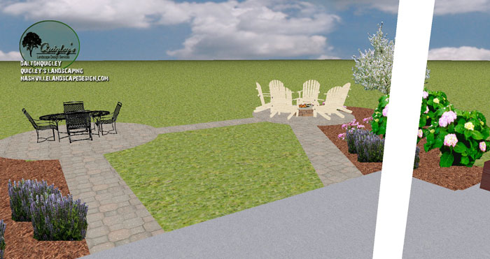 Spring hill tn patio and fire pit landscape design for Springhill designs