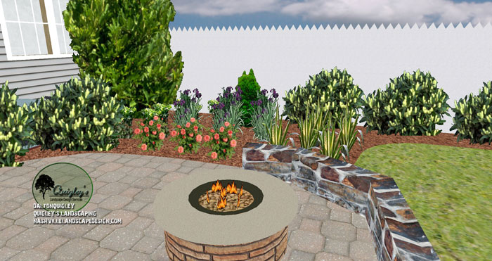 Nashville landscaping with paver patio nashville for Springhill designs