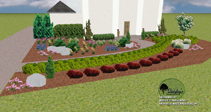 Nashville landscape remodel and private enjoyment space for Low growing landscape plants