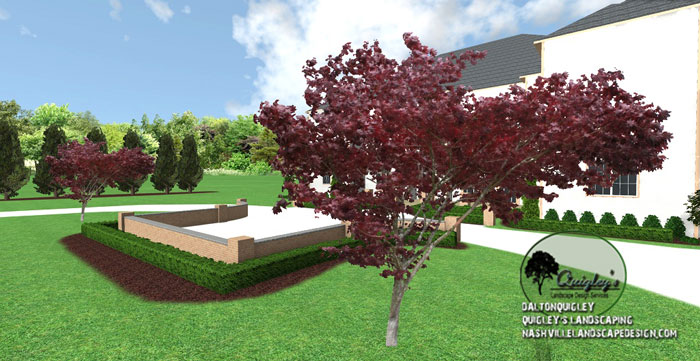 Franklin tn large home landscape design nashville for Garden design with japanese maple