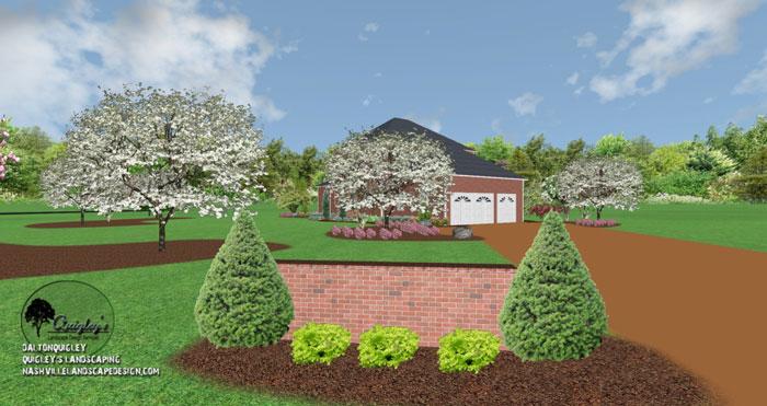 Brick-Entrance-Landscaping, Nashville, Brentood, Spring Hill, and Nolensville TN.