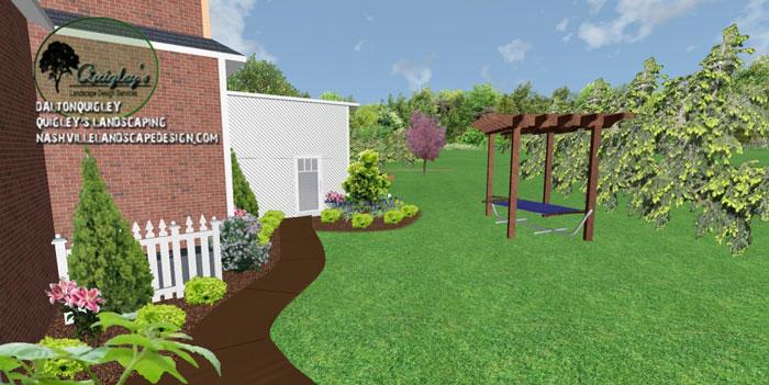 Cedar-Pergola, in 3d landscape design. Our areas we service are Nashville, Brentwood, Franklin, Spring Hill, and Nolensville TN.
