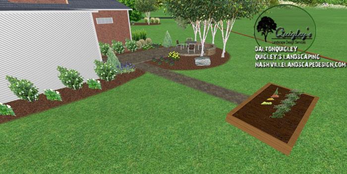 Cedar-Planter, in 3d landscape design. Our areas we service are Nashville, Brentwood, Franklin, Spring Hill, and Nolensville TN.
