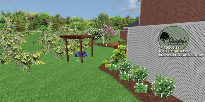 Hammock, in 3d landscape design. Our areas we service are Nashville, Brentwood, Franklin, Spring Hill, and Nolensville TN.