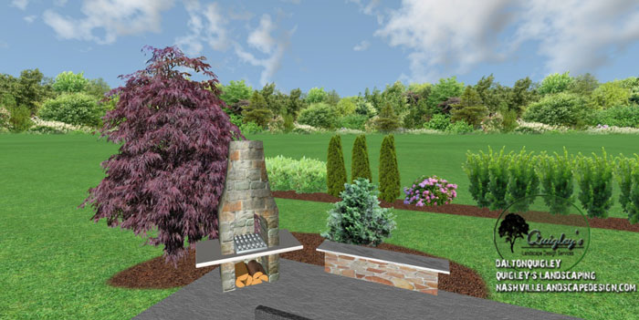 Privacy plantings in spring hill tn nashville landscape for Landscape design nashville tn