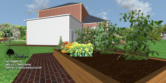 TN-Raised-bed-landcape-design, Nashville, Brentwood, Franklin, spring hill, and Nolensville Tennessee