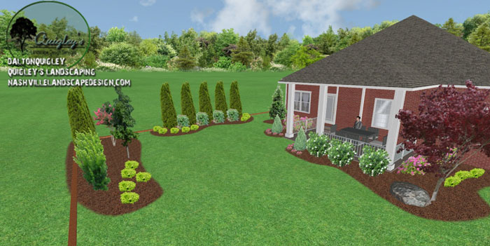Backyard-Landscape-Design, for the areas of Nashville, Brentwood, Franklin, Spring Hill, and Nolensville TN.