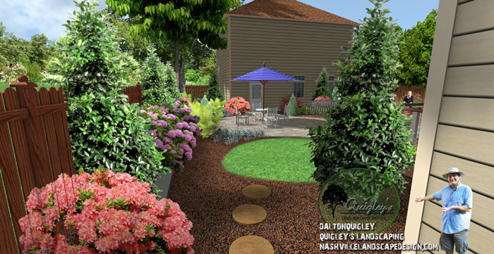 East nashville back yard nashville landscape design for Garden design nashville tn