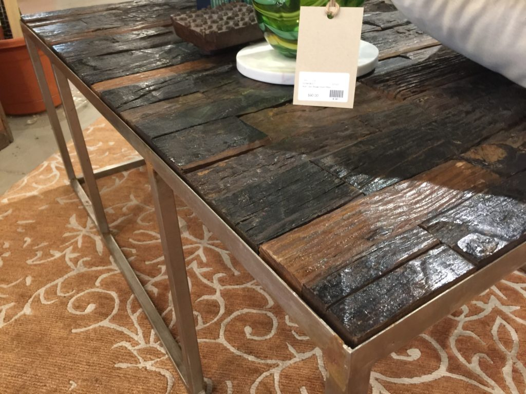 Rustic cut wooden table. Clean lines and organic appeal.