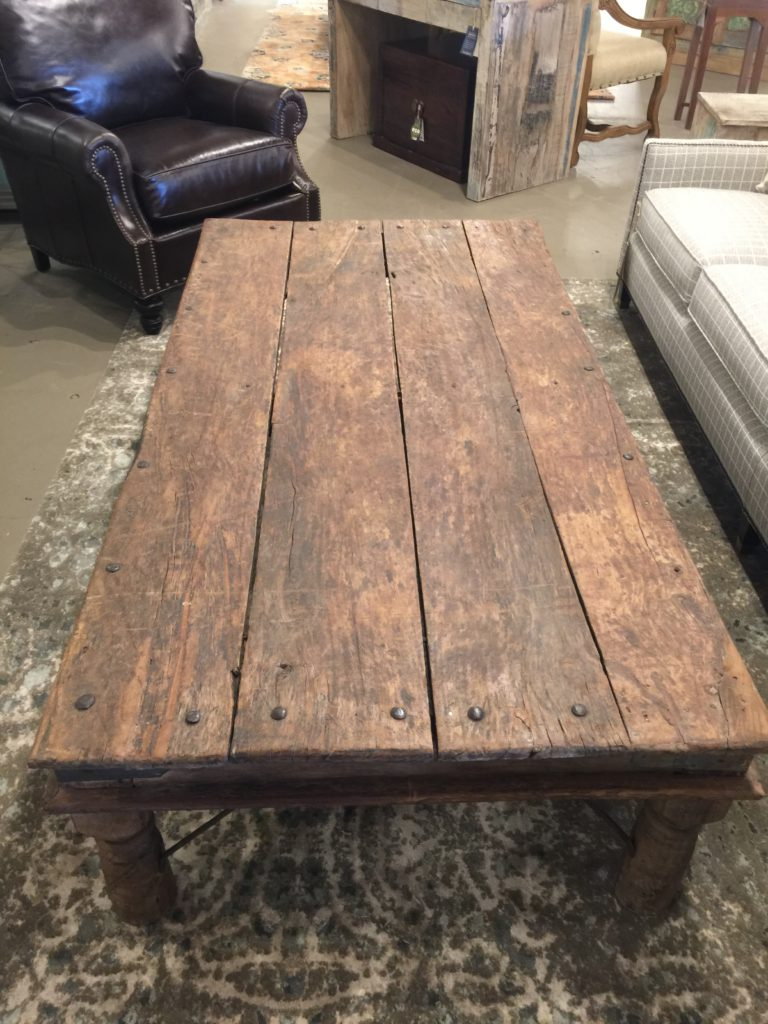 Short Table with bolts, coffee table. Great design.