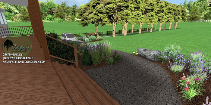 Brentwood-Hardscape-design, butterflies and bee garden